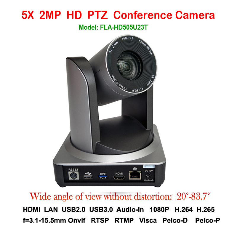 5X Wide angle 83 degree PTZ IP Streaming Camera with Simultaneous HDMI and USB 2.0 USB3.0 Outputs Silver color 2mp ptz 1080p 60fps ip live streaming camera 5x zoom 83 degree wide view with simultaneous hdmi and 3g sdi outputs