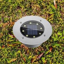 Газонная лампа на солнечной батарее для сада 8 светодиодный открытый Солнечный похоронен светильники для дорожки Водонепроницаемый для двора путь во внутренний дворик газон подъездной дорожки