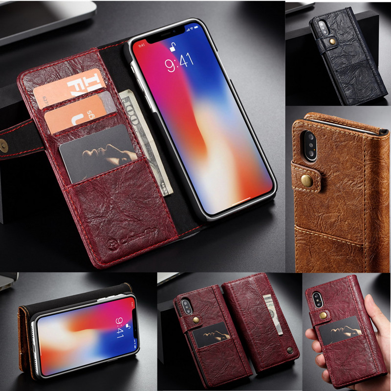 Luxury Genuine Leather Case For iPhone XS MAX XR Flip