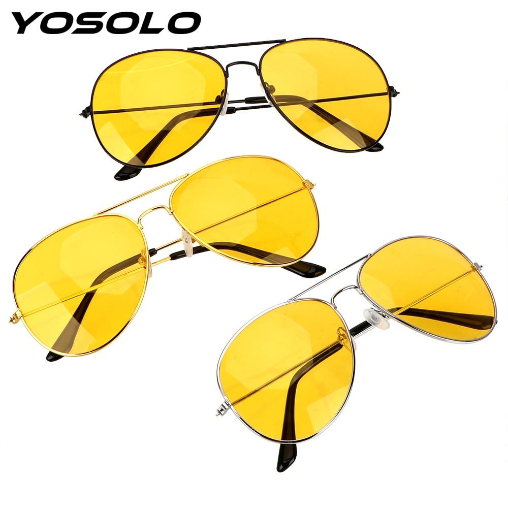 YOSOLO Anti-glare Polarizer Sunglasses Copper Alloy Polarized Driving Glasses Car Drivers Night Vision Goggles Auto Accessories polarized glare guard resin lens uv400 protection sunglasses for drivers pilots light golden