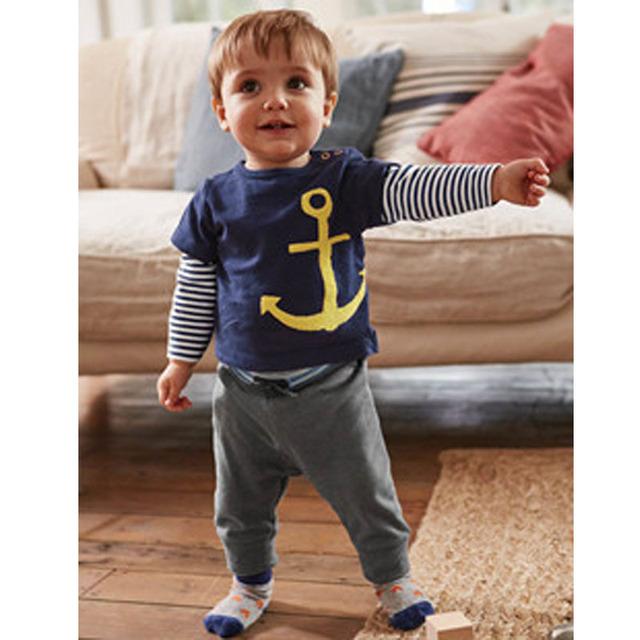 Marque Vetement Garcon Moda Primavera Camisetas Verano Miúdos Bonitos Meninos Tshirts Cavalheiro Bebê Menino Roupas Casuais Camisas Dos Miúdos