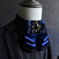 Haute qualityBritish hommes et femmes chemise arc cravate Marié arc ensemble diamant accessoires arc cravate