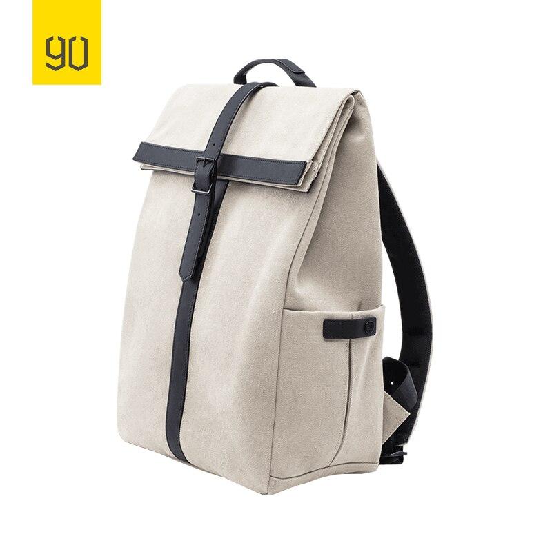 2019 nouveau Xiaomi 90FUN meuleuse Oxford sac à dos décontracté 15.6 pouces pochette d'ordinateur Style britannique sac à dos pour hommes femmes école garçons filles