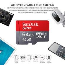 Оригинальная карта Micro SD SanDisk, 16 ГБ, 32 ГБ, 64 ГБ, 128 ГБ, 200 ГБ, 256 ГБ, карта памяти C10 U1 A1, флеш-карта памяти Micro SD, карта-адаптер