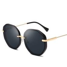 Summer Round Sunglasses Female Oversized Glasses 2019 Metal Large Frame Sunglasses Men And Women Gift Brand Design UV400 цена