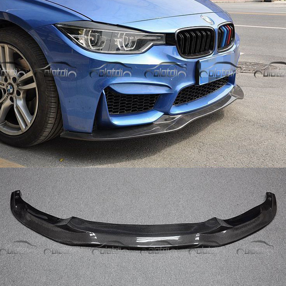 F30 PSM Style Car Styling Carbon Fiber Front Lip Bumper Bottom Splitter Spoiler For BMW F30 Only Fit TaiWan AN Bumper