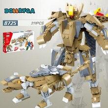 DOLLRYGA 211pcs DIY Robot Deformation Figures Building Blocks  knutselen kinderen Toy for Children Block jouet enfant