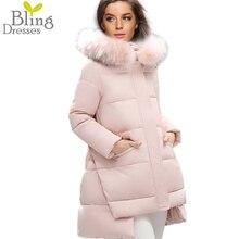 Плюс Размер 4XL Женщины Зима Куртки Хлопка Парки Искусственного Меха Воротник Капюшоном Сплошной Цвет 2016 женская Мода Верхняя Одежда Пальто