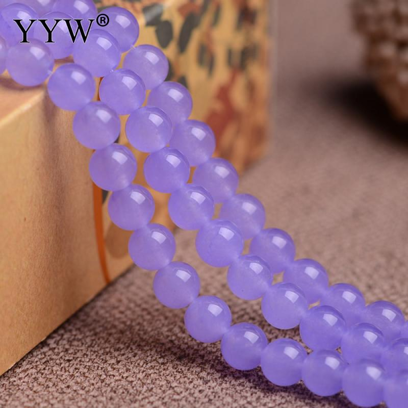 2017 Natural Purple Chalcedony Bead Round Grade AAAAAA Gem Stones DIY Making Loose Beads Real Stones for Necklaces Bracelets ...