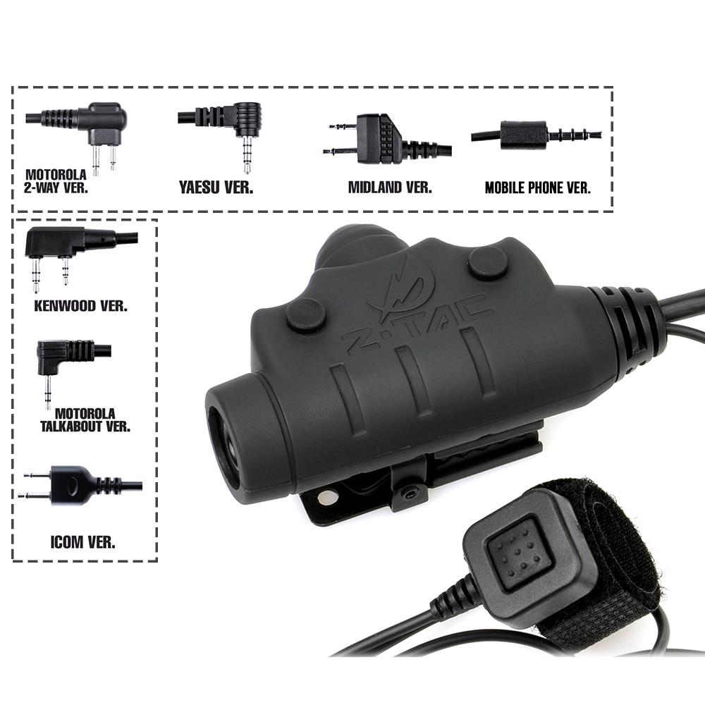Headset connect PTT Z145 Z Tactical Wiring transform adapter
