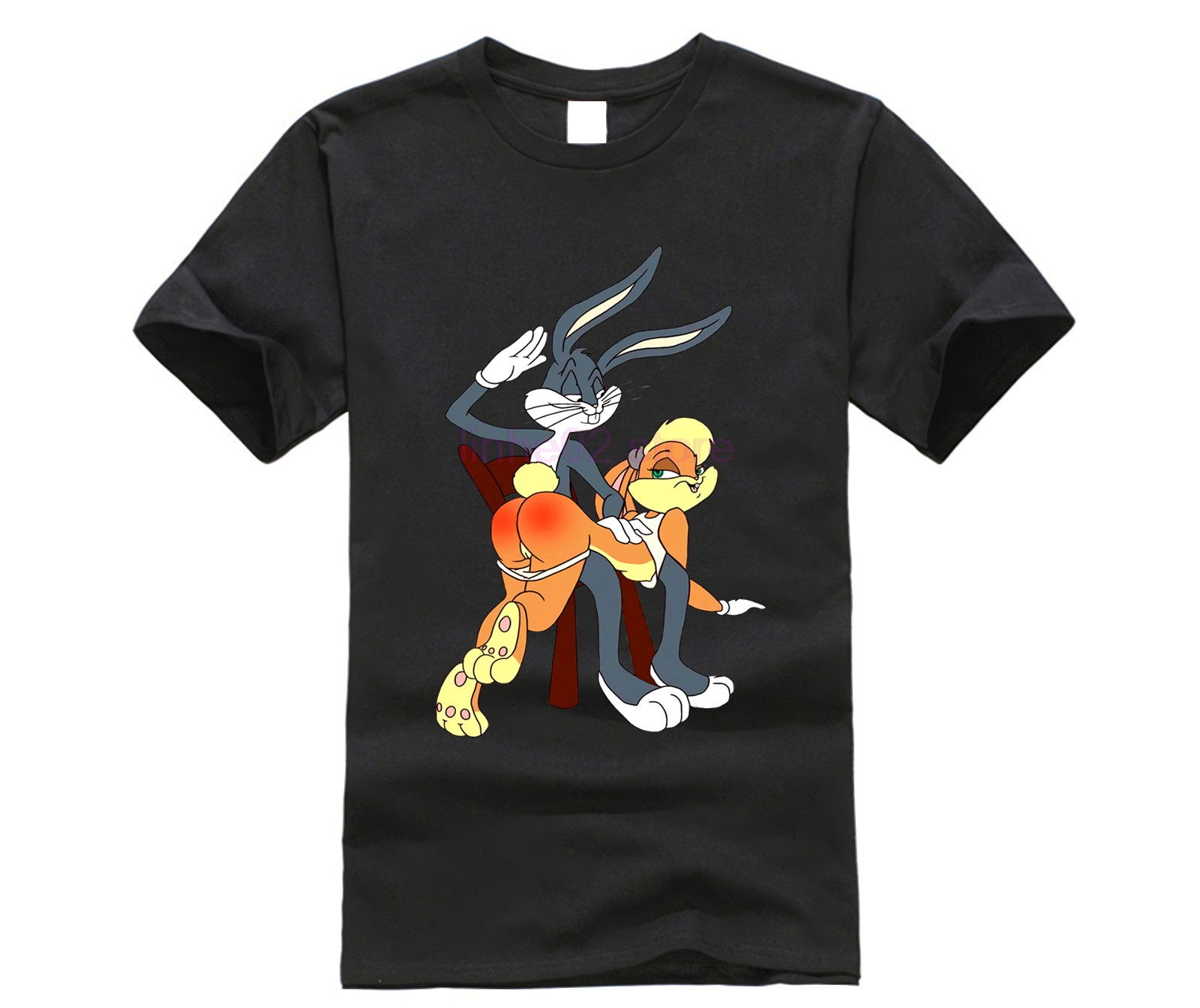 2019 new Bugs Lola Bunny Spank Cartoon Punishment men t shirt number
