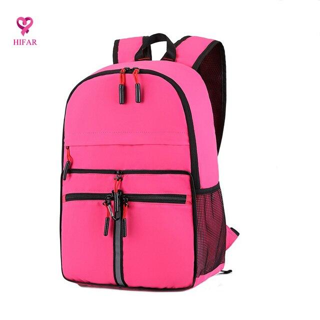 db85ffa4e4e7 Fashion big Backpack Lightweight Multi pocket Folding Large Capacity  Portable Shoulder Travel Waterproof Reflective Strip Bag-in Backpacks from  ...