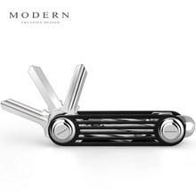 Modern - Brand New 2016 Aluminum Smart Key Wallet Key Organizer Holder DIY Keychain ключница new brand key ts48a cartoon key wallet