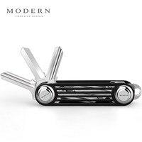 Modern Brand New 2016 Aluminum Smart Key Wallet Key Organizer Holder DIY Keychain