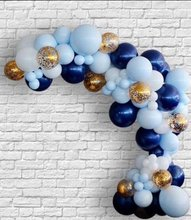 150pcs Set Blue and Navy balloon Garland Kit Boy First Birthday Baby Shower Wedding Shades of Confetti Balloons Arch