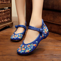 Spring Summer Women Flats Comfortable Walking Shoes Woman Chinese Style Embroidery Casual Cloth Shoes Big Size 40 41 WSH2295