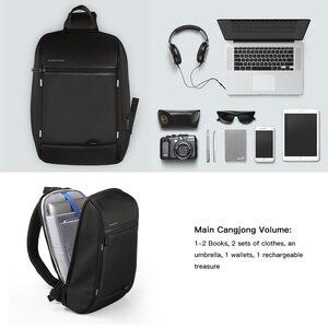 Image 4 - Kingson 13 حقيبة صدر للرجال الأسود حقائب كتف واحدة مع USB شحن مقاوم للماء النايلون حقائب كروسبودي حقيبة ساع البيع