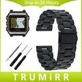 22mm correa de acero inoxidable + epix herramienta para garmin gps navegador de smart watch band correa de muñeca brazalete de eslabones de oro negro plata