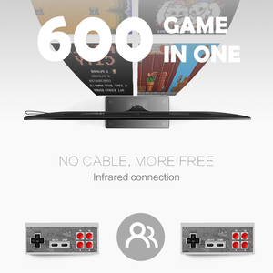 Image 3 - DATA FROG Retro Video Game Console 8 Bit Built in 1400 Classic Games Mini Wireless Console Support AV/HDMI Output Dual Gamepads