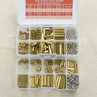 380pc M3 and M2 Brass Spacer Standoff Screw Nut Assortment Kit