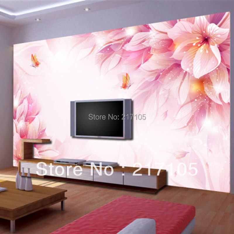 Buy custom floral wallpaper modern 3d for Modern 3d wallpaper for bedroom