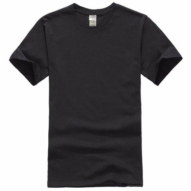 2018 Nova cor Sólida T Camisa Dos Homens Preto E Branco 100% algodão T-shirt Verão Tee Skate Boy Skate Camiseta Tops