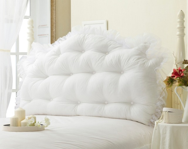 grand oreiller Literie rustique 100% coton grand lit de chevet Coussin Princesse  grand oreiller