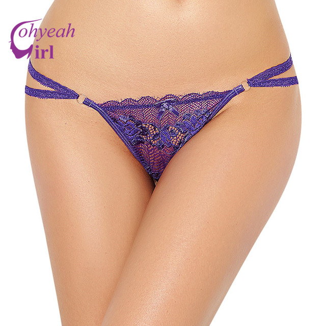 PW5094 Ohyeahgirl Hot sale sexy g strings multi colors transparent lace underwear erotic design bowknot women plus size panties