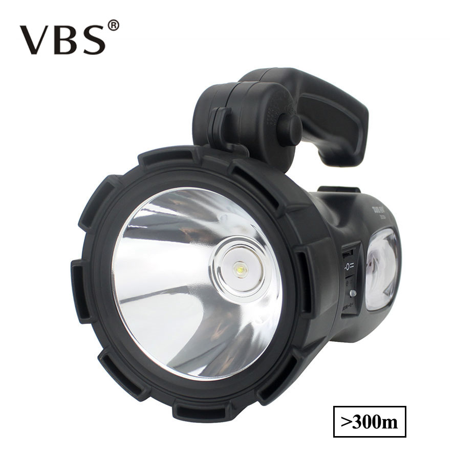 New Portable Light Rechargeable Waterproof Led Spotlights Camping Lantern Searchlight Handheld Work Light Spotlight Lamp