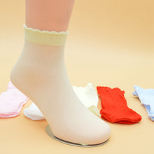 Newborn Baby Cute Colored Candy Sock Ultra-Thin Non Slip Breathable Floor Invisible Toddler Socks Lace Socks Boy Girl Kids Gift(China)