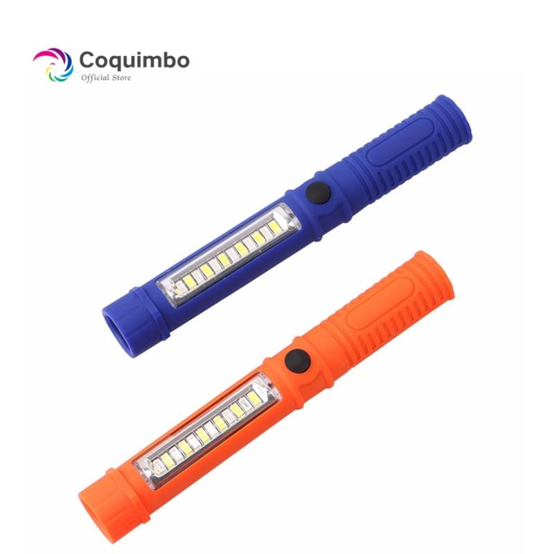 Multifunction Mini Pen COB LED Light Car Inspection Flashlight Torch Lamp Magnet