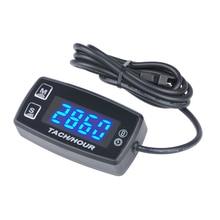 цена на Digital Voltmeter Temperature Meter Tach Hour Meter LED Thermometer for marine dirt quad bike pit bike golf HM035L