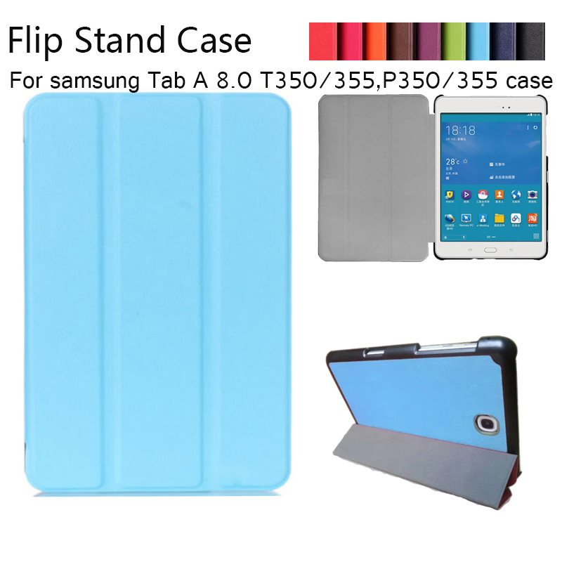 Magnet Luxury Stand pu Leather Case Cover For Samsung Galaxy Tab A 8.0 T350 T355 SM-T355 tablet funda cases luxury tablet case cover for samsung galaxy tab a 8 0 t350 t355 sm t355 pu leather flip case wallet card stand cover with holder
