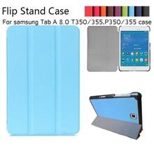 Imán de Lujo pu Del Soporte de la Cubierta Funda de piel Para Samsung Galaxy Tab 8.0 T350 T355 SM-T355 tablet funda casos