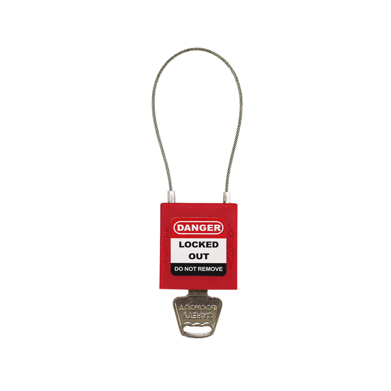 175mm PC175D2 Red Color font b Padlock b font For Ralay Switch Anti touch Cable Shackle