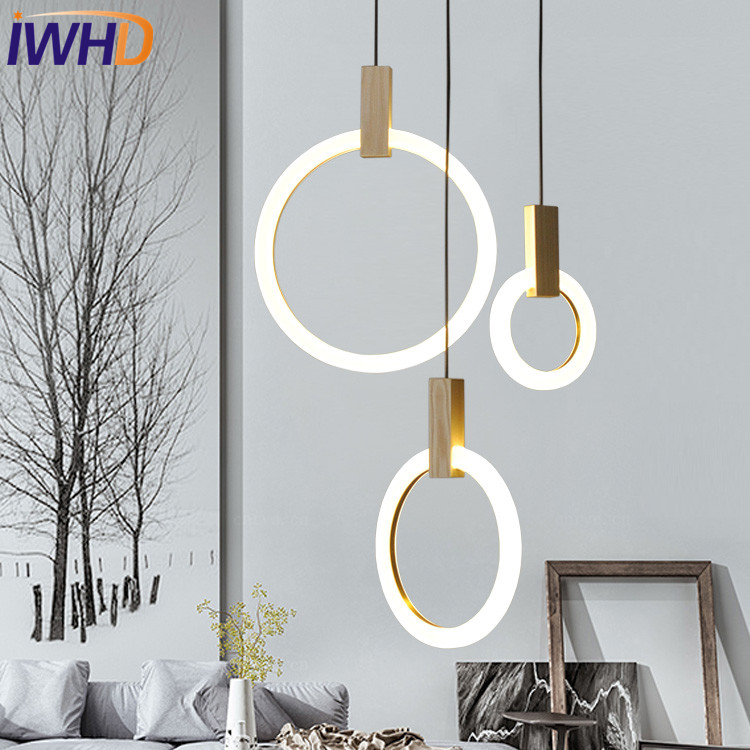 Simple Creative Round Acrylic Droplight Modern LED Pendant Light Fixtures For Dining Room Hanging Lamp Home Indoor LightingSimple Creative Round Acrylic Droplight Modern LED Pendant Light Fixtures For Dining Room Hanging Lamp Home Indoor Lighting