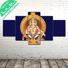 5 Piece Ayyappan Swami  Lord Painting Wall art Picture Art Poster Decoration Modern Print