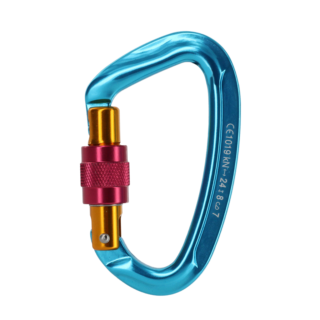 24KN/2400kg Screw Gate Locking Carabiner For Mountaineering Tactical Rock Climbing Rappelling Safety Equipment