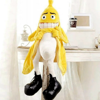 1pcs Plush Toy Stuffed Doll Cute Adult Funny Banana Flasher Exhibitionist Sinful Man Evil Pillow Cushion