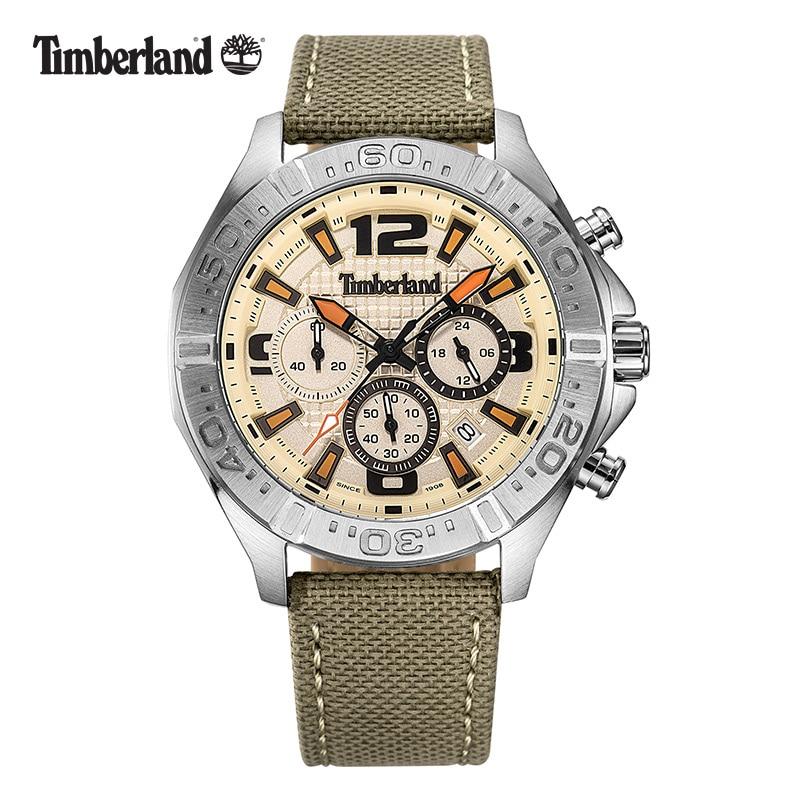 Timberland Original Mens Watches Leather Waterproof Quartz Multi-function Men's Watch T14655