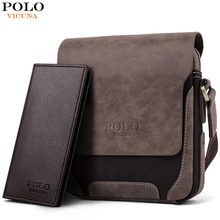 VICUNA POLO Vintage Casual Patchwork Durable Oxford Man Bag With Leather Cover Fashion Mens Travel Bag Fashion Crossbody Bag Man(China)