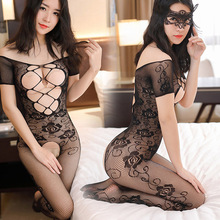 Teddy Sexy Lingerie Erotic Underwear Women Mesh Body Stockings Porno Lenceria Suits Plus Size Costumes Sleepwear