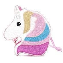 Cute Ladies Bag 2019 New Cartoon Unicorn Sequins Wild Girl Fashion Single Shoulder Messenger Small Crossbody Bags For Women
