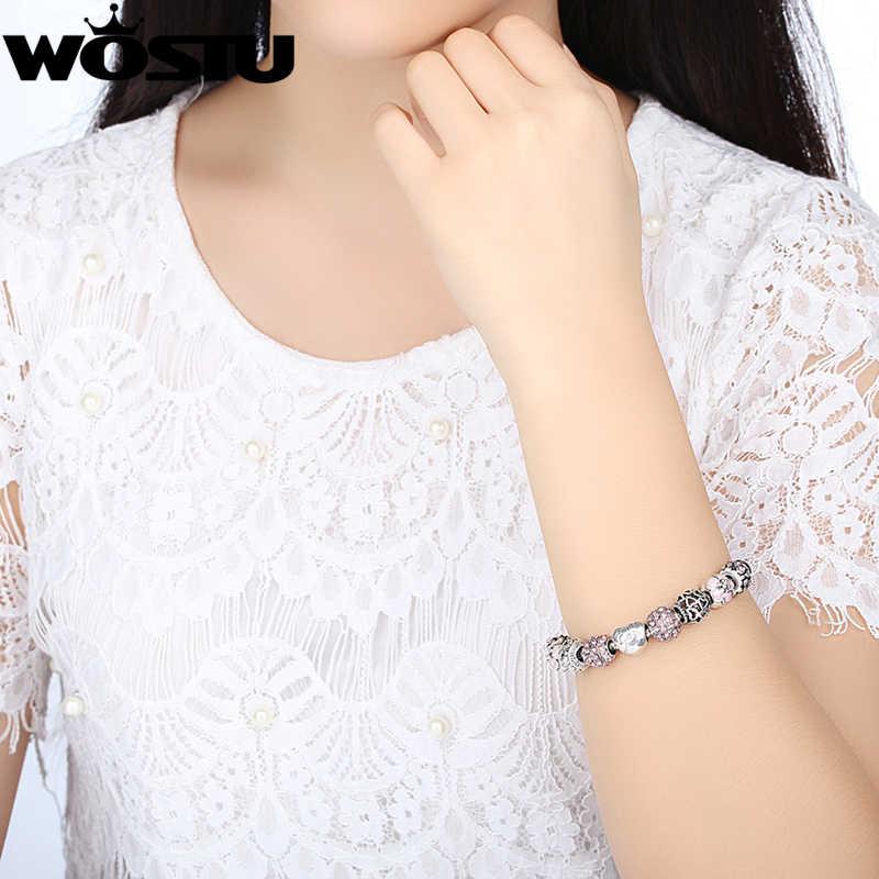 Venda quente amour coração amor amor charme grânulos pulseira para as mulheres moda jóias diy original pulseiras presente sdp1455