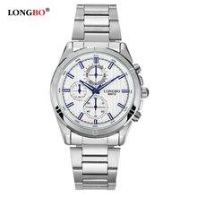 Longbo бренд часы мужчины бизнес нержавеющей стали свободного покроя часы аналоговые мужчины мода водонепроницаемый наручные часы Relogio Masculino 80012