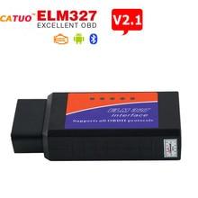 Новый ELM 327 V2.1 интерфейс. работает на Android Torque CAN-BUS Elm327. Bluetooth OBD2 / OBD II автомобиля .диагностический инструмент сканера. горячая распродажа!