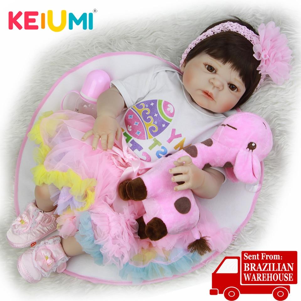 KEIUMI 23 ''Reborn Menina Boneca realistyczne księżniczka pełna winylu Reborn silikonowa lalka zabawki towarzyszy zabaw dla dzieci prezenty urodzinowe w Lalki od Zabawki i hobby na  Grupa 1