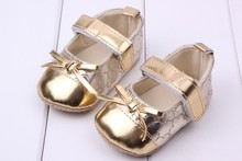 Hot Kids Leather Shoes Bowknot Hook Loop Baby Girl Dress Shoes Prewalker Shoes For 0 15