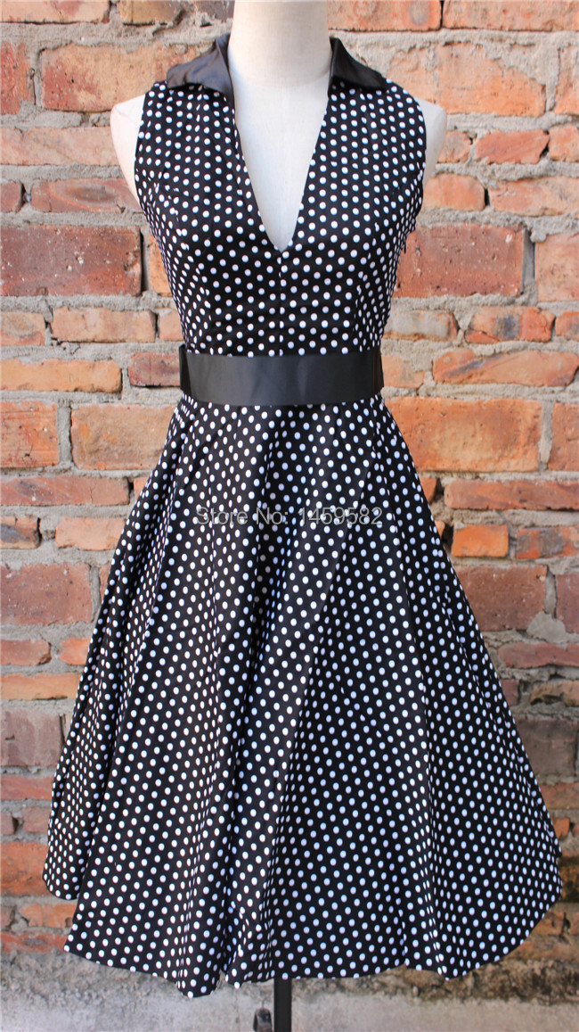 free shipping sailor blue rockabilly dress Swing Prom Cocktail vintage dressBestdress