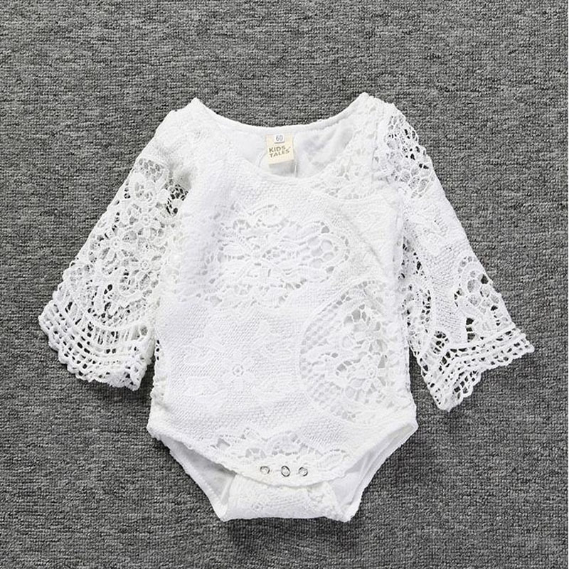 Infant newbron Baby Clothes Girl white  Lace Floral Romper Jumpsuit Outfits Sunsuit 2018 Summer Baby Girls Romper free shipping 2017 summer newborn baby girl white lace romper jumpsuit floral infant clothes outfit sunsuit